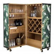 Martini Bianco Mustique Green Wine Cabinet