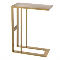 Pierre Brushed Brass Side Table
