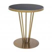 Horatio Brushed Brass & Honed Black Marble Side Table