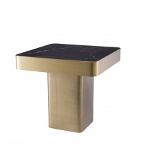 Luxus Brushed Brass & Ceramic Side Table