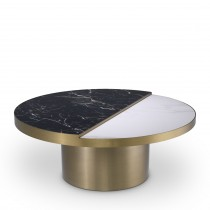Excelsior Brushed Brass & Ceramic Coffee Table