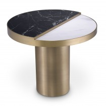 Excelsior Brushed Brass & Ceramic Side Table