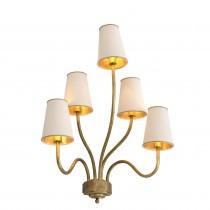Bergerac Medium Vintage Brass Wall Lamp