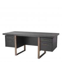 Canova Charcoal Grey Oak Desk
