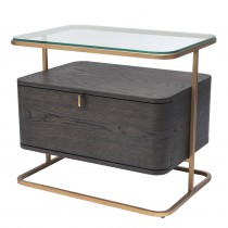 Augusto Mocha Crown Oak Side Table
