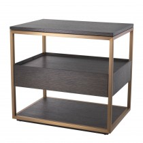 Parker Mocha Straight Oak Side Table