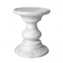 Melody Carrara White Marble Side Table