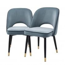 Cliff Savona Blue Velvet Dining Chair - Set of 2