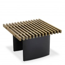Vauclair Brushed Brass & Black Console Table