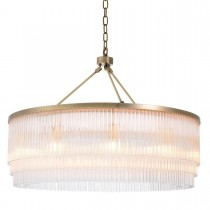 Hector Large Light Brushed Brass Chandelier
