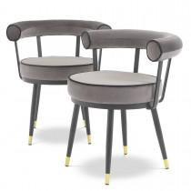 Vico Savona Grey Dining Chairs - Set of 2