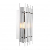 Sparks Nickel & Smoked Glass Small Wall Lamp