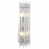 Sparks Nickel & Smoked Glass Large Wall Lamp