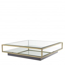Tortona Brushed Brass Coffee Table