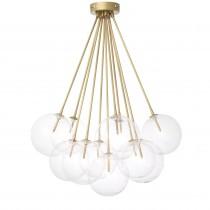 Molecule Antique Brass Ceiling Lamp