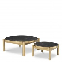 Quest Brushed Brass Coffee Table - Set of 2