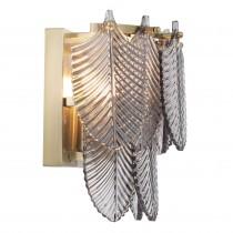 Verbier Light Brushed Brass & Smoked Glass Wall Lamp