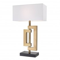 Leroux Antique Brass Table Lamp
