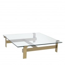 Maxim Brushed Brass Coffee Table