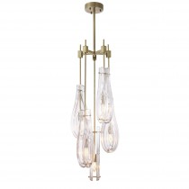 Bellano Large Light Brushed Brass Chandelier