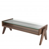 Lionnel Classic Brown Coffee Table