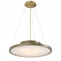 Pullman Light Brushed Brass Chandelier