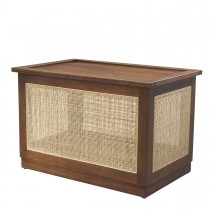 Philbert Classic Brown Trunk with Rattan Cane Webbing
