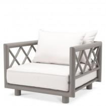 Mandelieu Greige Arm Chair