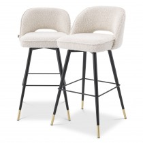 Cliff Boucle Cream Bar Stool - Set of 2