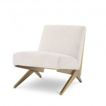 Fico Boucle Cream Armchair