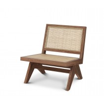 Romee Classic Brown Armchair with Rattan Cane Webbing