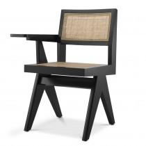 Niclas Classic Black Chair with Desk Arm