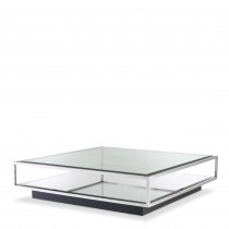 Tortona Polished Stainless Steel Coffee Table