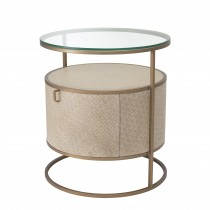 Napa Valley Woven Washed Oak Bedside Table