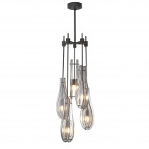 Bellano Large Bronze Highlight Chandelier