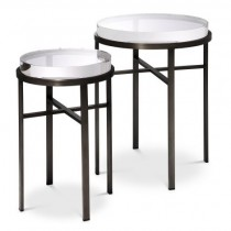 Hoxton Bronze Side Tables - Set of 2