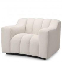Kelly Boucle Cream Armchair