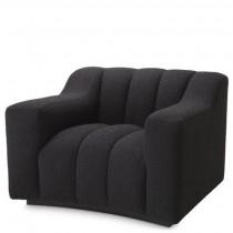 Kelly Boucle Black Armchair