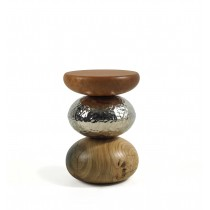 PEBBLE STOOL/SIDE TABLE BRASS - CUSTOMISE