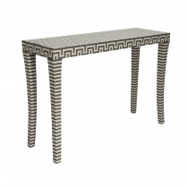 Andes Grey & Off-White Console