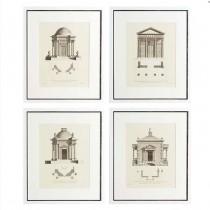 EICHHOLTZ ARCHITECTURE SET OF FOUR