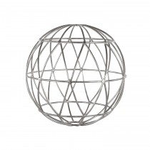 WORLDS AWAY ATLAS SPHERE SILVER LEAF