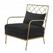 Eichholtz Bahamas Black Vintage Brass Chair