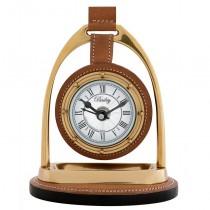 BAILEY EQUESTRIAN CLOCK BRASS