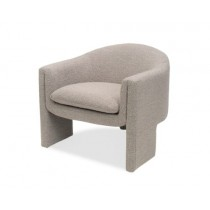 Iconic Boucle Taupe Armchair
