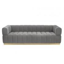 Marat Toscana Arctic Grey Velvet Sofa