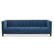 Gamal Toscana Polar Blue Velvet Sofa