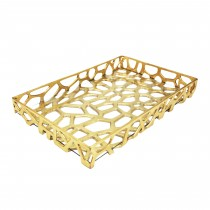 BYRON GOLD GLASS TRAY