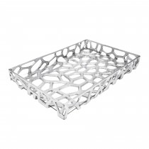 BYRON SILVER GLASS TRAY