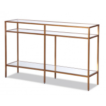 Oliver Antique Gold Console Table